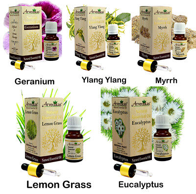 Arvedikas 100% Pure Natural Organic Essential Oils 10ml / A Gift Set of 5pc