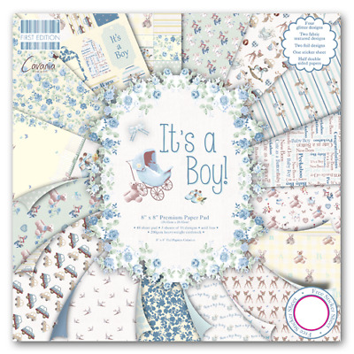 First Edition 8 X 8 Paper Pad - Its A Boy