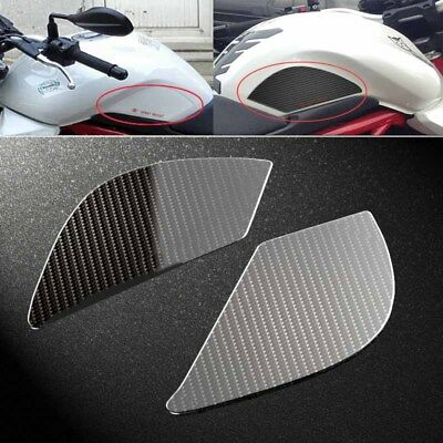 Motorcycle Anti slip sticker Tank Traction Pad Knee Grip Protector carbon fiber