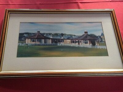 Framed Golf Print. Carnoustie Golf Course.