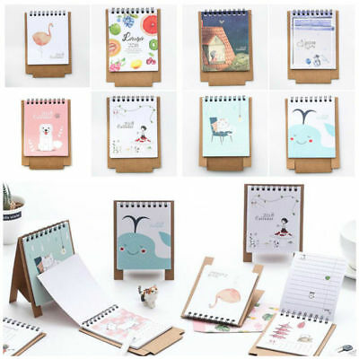 2017-2018 Cute Cartoon Animal Desk Desktop Calendar Schedule Table Office Plan