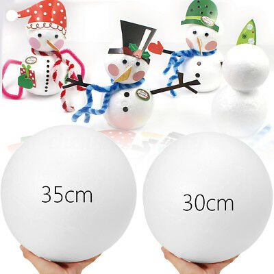 30/35cm DIY Polystyrene Styrofoam Foam Ball Round Shape Craft Flowers Decor