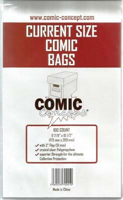 100x Current/Modern Age Comic Concept Bags