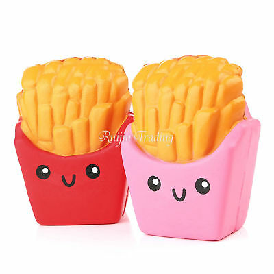Super Slow Rising Squishy Squeeze Funny French Fries Smile Face Kids Toys 12cm