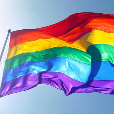 Rainbow Banner Flag Gay Lesbian Pride Outdoor Flags Polyester 150x90cm 5x3ft CR