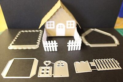 5 piece 3D House Metal Dies Brand New