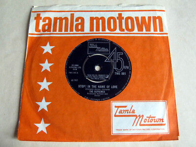 The Supremes-Stop! In The Name Of Love-Tamla Motown Tmg.501 1965 Ex+