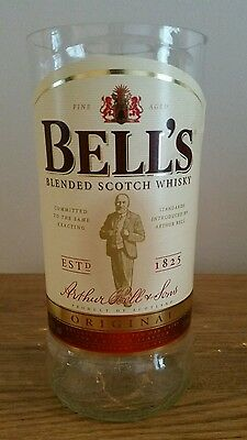 Bells whisky upcycled glass and shot glass