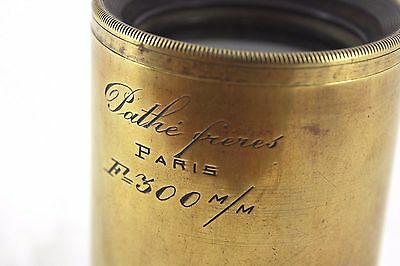 vintage/antique Pathe Freres 300mm brass barrelled lens