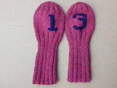 Hand Knitted Head Covers #1 & #3