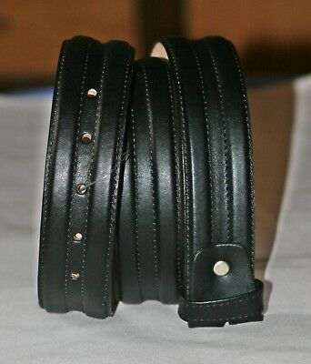 Men,s Genuine 100% Real Leather Belt Snap On Strap Without Buckle-1.5 Inch Wide