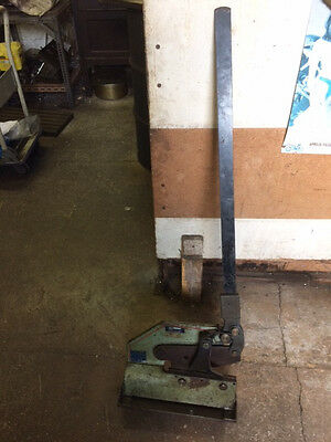 Metal Hand Shear Cutter Cropper Guillotine  Used