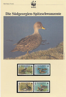 OD 4859. South Georgia. WWF. Fauna. Ducks. Perf. MNH.
