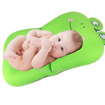 Smile Frog Design Foldable Baby Bath Tub Antiskid Bathing Net Mat