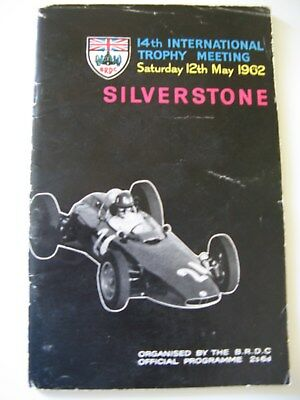 Silverstone Programme - 14th International Trophy Meeting 12 May 1962