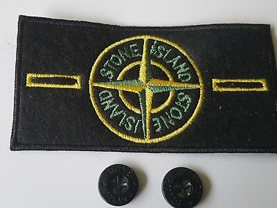 Stone island badge genuine complete with buttons