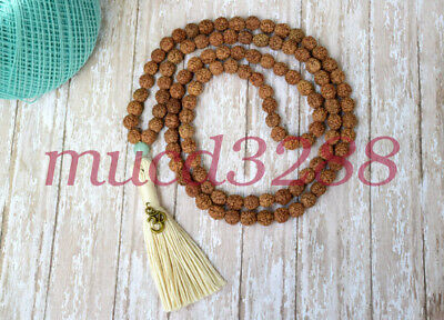natural vajra bodhi mala bracelet beads necklace meditation yoga tassel