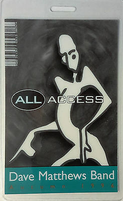*** DAVE MATTHEWS BAND *** - LAMINATED BACKSTAGE PASS - ALL ACCESS - Autumn 1996