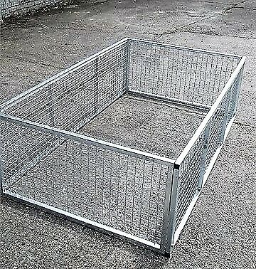 New 6x4 6ftx4ft Galvanised High Sided 600mm Trailer Cage Mesh Attachment Kit