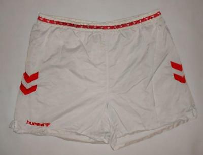 RETRO VINTAGE SHORTS HUMMEL (XL) Nylon Running Jogging Sprinter Shiny Glanz Gym