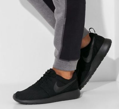 low priced 5dba1 f6f17 NEW NIKE ROSHE Run One Casual Athletic Shoes Mens triple black all sizes