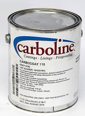 Carboline Carbocoat 115 Steel Primer with Microcystalline silica Grey 1 gallon