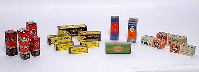 Lot of 17 Assorted Vintage Electronic Tube Boxes - **NO TUBES**