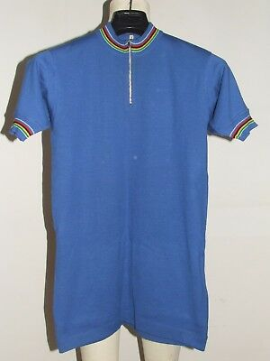 Maglia Bici Shirt Maillot Ciclismo Eroica Vintage 70's 60% Lana