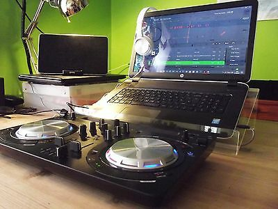 Acrylic Home LAPTOP DJ STAND Riser - suitable for ALL Laptops & Controllers