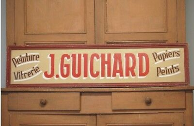 Vintage French Painters Trade Sign Shop Display