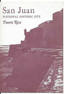 Brochure San Juan National Historic Site Puerto Rico Dated 1962