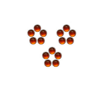 5x5mm 15pc Fine Quality Rose Cut Faceted Cabs Natural Hessonite Garnet