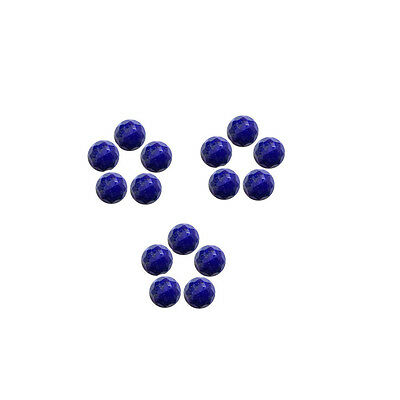5x5mm 15pc AAA Quality Rose Cut Faceted Cabochon Lapis Lazuli Loose Gems