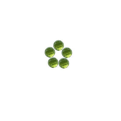 6x6mm 5pc AAA Quality Rose Cut Faceted Cabochon Natural Peridot Loose Gems