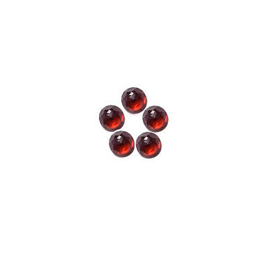 6x6mm 5pc AAA Quality Rose Cut Faceted Cabochon Red Garnet Loose Gems