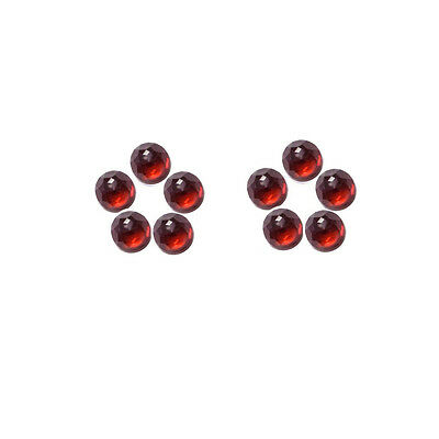 6x6mm 10pc AAA Quality Rose Cut Faceted Cabochon Red Garnet Loose Gems