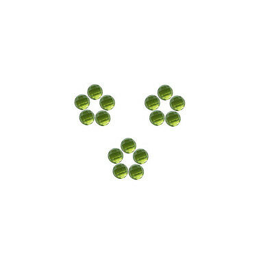 4x4mm 15pc AAA Quality Rose Cut Faceted Cabochon Natural Peridot Loose Gems