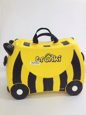 Trunki - Black + Yellow Bumble Bee Ride On Children's Suitcase (BC)