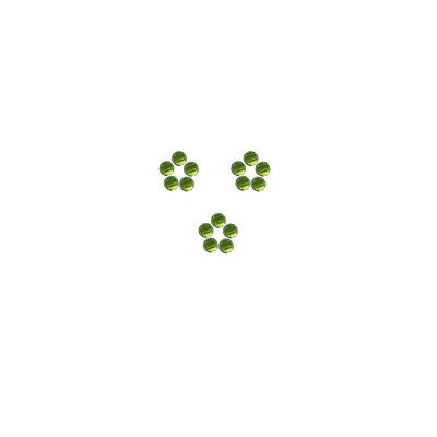 3x3mm 15pc AAA Quality Rose Cut Faceted Cabochon Natural Peridot Loose Gems