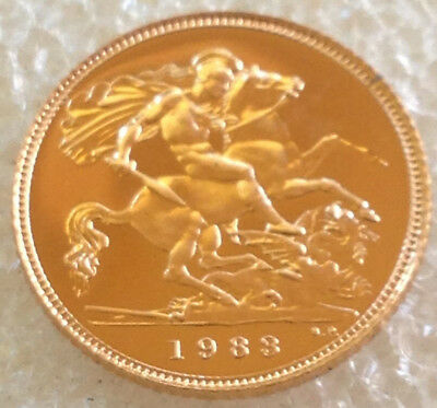 1983  Gold Proof  Half  Sovereign  # 391