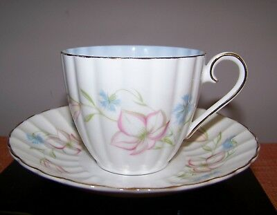 FAB Susie Cooper Fluted Wedgwood Bone China Cup & Saucer Made in England   EUC