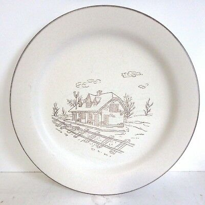 Vintage Collection Manoir Coree Hand Crafted Dinner Plate Railroad Station