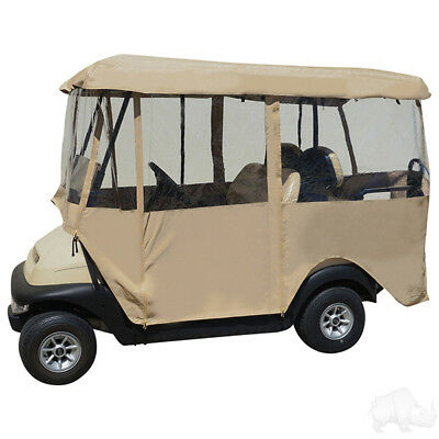 """RHOX Universal Deluxe 4 Sided Golf Cart Enclosure with 80"""" Top"""