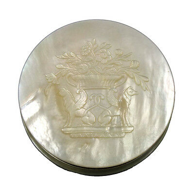 Beautiful 18th / 19thC French Mother of Pearl & Silver Snuff Box