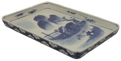 Fine 18thC Chinese Porcelain Scenic Tray w/ Horses