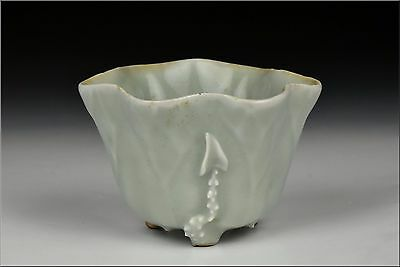 Chinese Kangxi Period / 17th / 18th Century Celadon Libation Cup