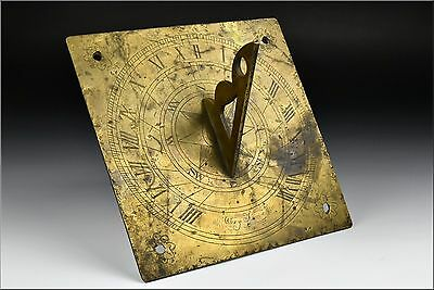 Antique 17th / 18th Century French Brass Sundial