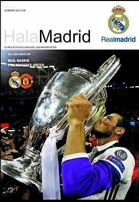 Programme REAL MADRID v MANCHESTER UNITED 2017 UEFA Super Cup. Unofficial