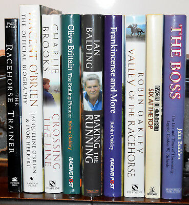 Horse Racing Trainers Biographies (9 books)