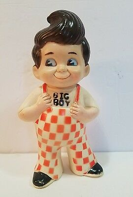 "Vintage BOB'S BIG BOY 9"" Coin Money Piggy Bank Rubber-Plastic Marriott 1973"